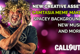 NEW! Camtasia Meme Maker, loads of music, backgrounds, and creative assets
