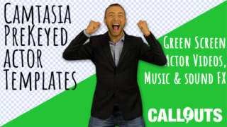 NEW! Camtasia Pre-keyed actors, green screen actor videos, music, and more