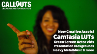 NEW Assets! Camtasia Creative LUTs Volume 2, New Green Screen Actors, Music and Presentation Backgrounds