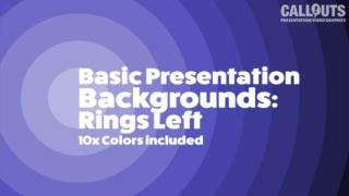 Basic Presentation Backgrounds: Sunset Rings Left