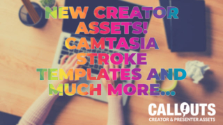 New Creator Assets! Camtasia Stroke Headlines, New Green Screen Actors, Heavy Music, and Presentation Backgrounds